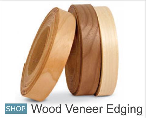 Iron on veneer strip